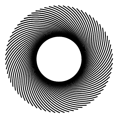 Rotating shapes to create a circular pattern in Adobe Illustrator