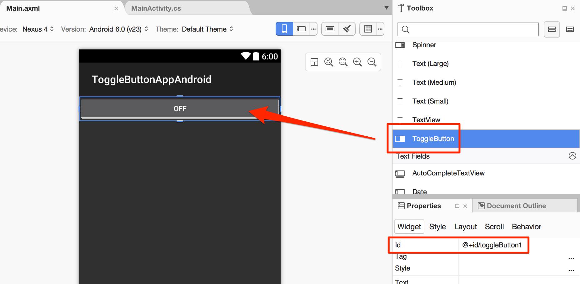 Adding toggle buttons to an Android app with Xamarin – CodeMahal