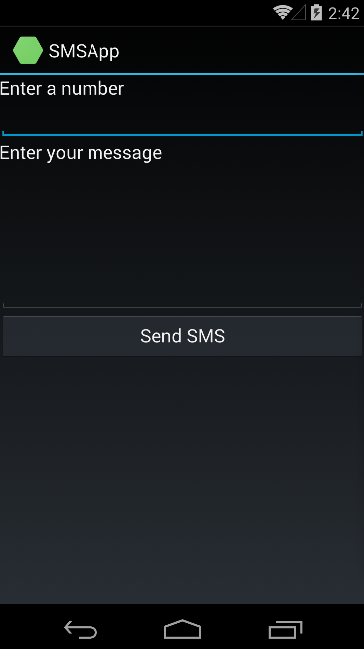 Send SMS from Android app with Xamarin – CodeMahal
