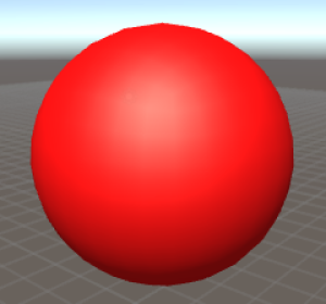 Specular shader with red colour.
