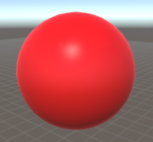 Standard shader with red colour.