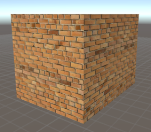 Diffuse shader with brick wall image texture.