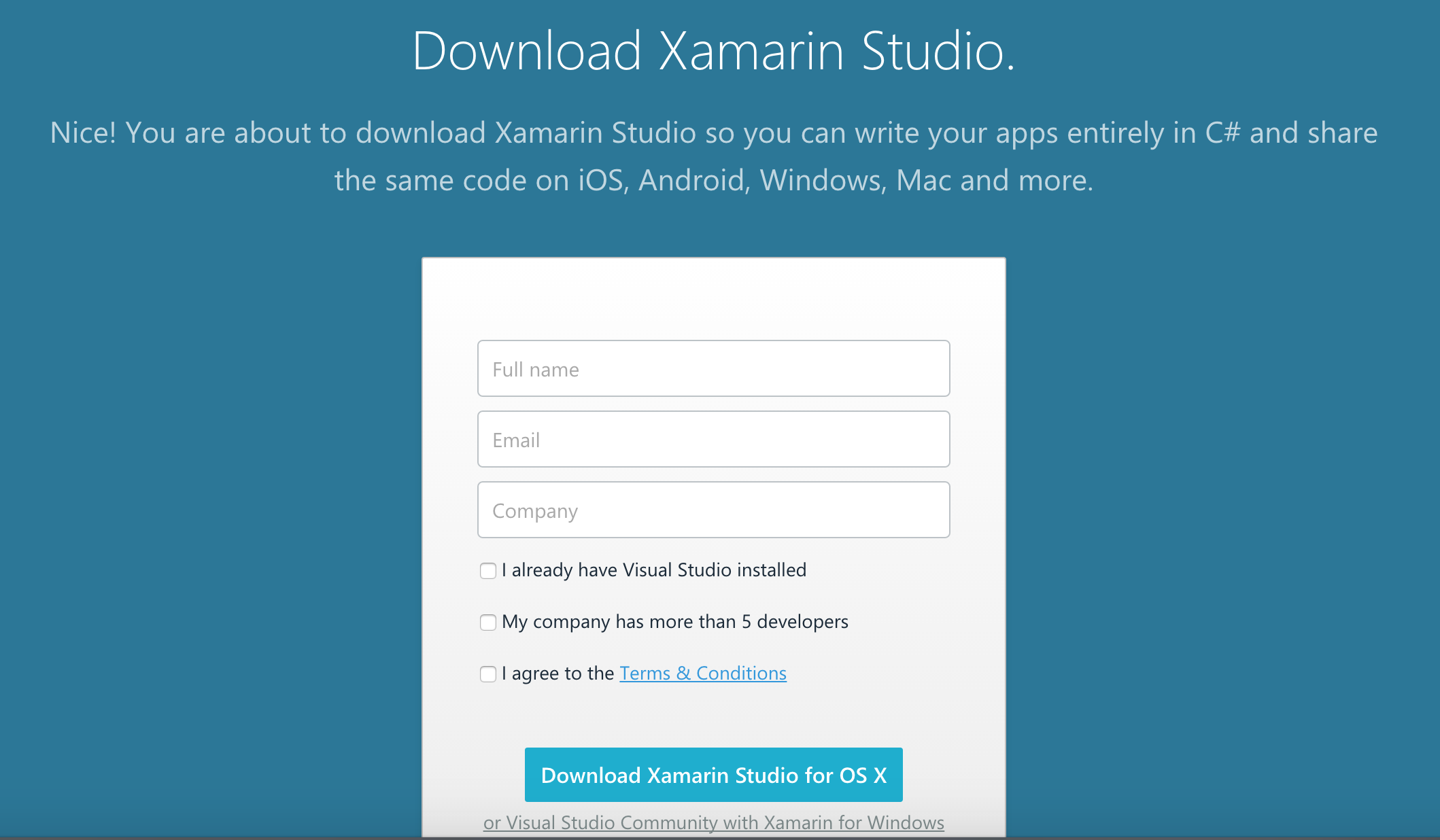 Installing Xamarin (Mac) – CodeMahal